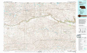Cody topographical map
