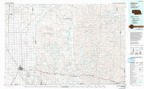 Alliance topographical map