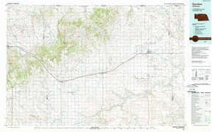 Gordon topographical map