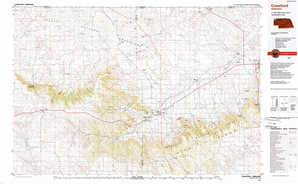 Crawford topographical map