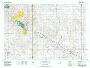 Torrington topographical map