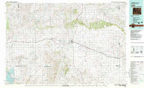 Lusk topographical map