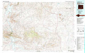 Shirley Basin topographical map