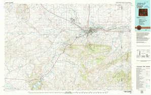 Casper topographical map