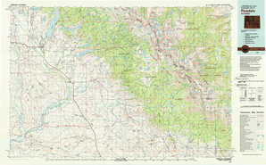 Pinedale topographical map
