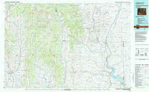 Fontenelle Reservoir topographical map