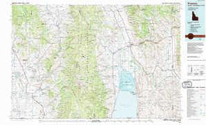Preston topographical map