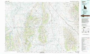 Oakley topographical map