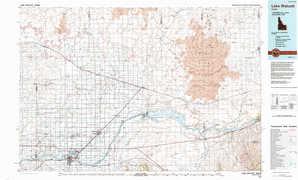 Lake Walcott topographical map