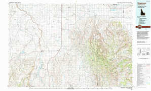 Rogerson topographical map