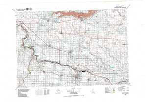 Twin Falls topographical map