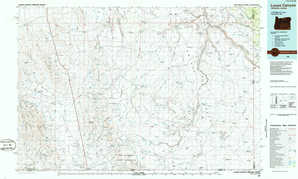 Louse Canyon topographical map