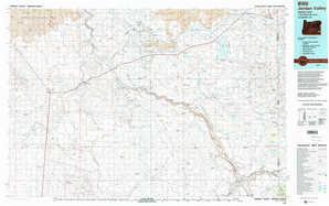 Jordan Valley topographical map
