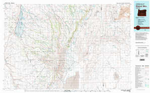 Steens Mountain topographical map