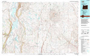Adel topographical map