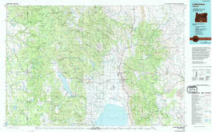 Lakeview topographical map