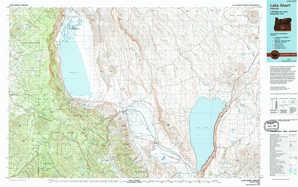 Lake Abert topographical map