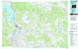 Klamath Falls topographical map
