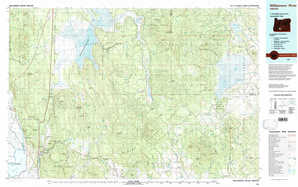 Williamson River topographical map