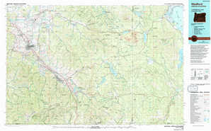 Medford 1:250,000 scale USGS topographic map 42122a1