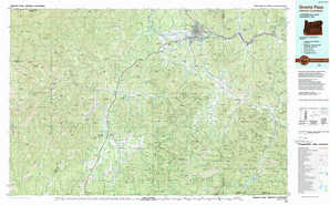 Grants Pass 1:250,000 scale USGS topographic map 42123a1