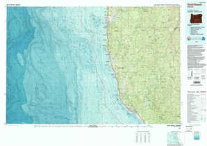 Gold Beach topographical map
