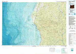 Port Orford topographical map