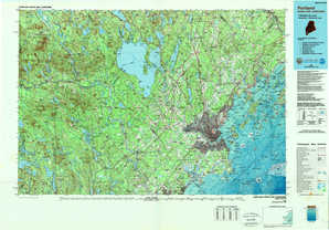 Portland topographical map