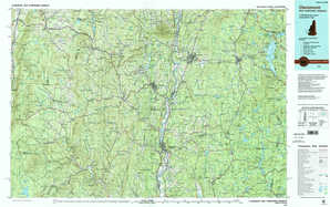 Claremont topographical map