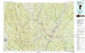Rutland topographical map
