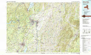 Glens Falls topographical map