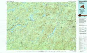 Raquette Lake topographical map