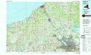 Syracuse topographical map