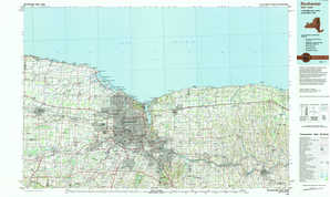 Rochester topographical map