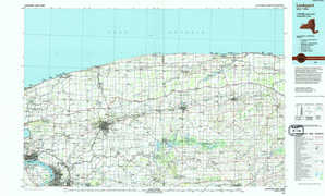 Lockport topographical map