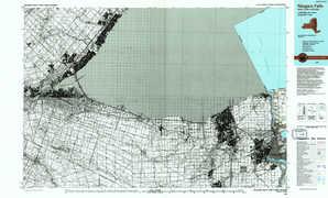 Niagara Falls topographical map