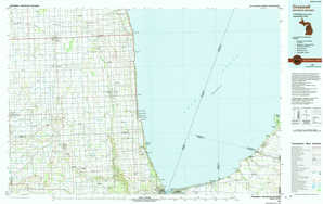 Croswell topographical map