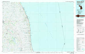Harbor Beach topographical map