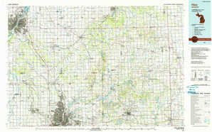 Flint topographical map
