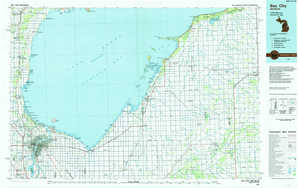 Bay City topographical map