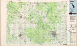 Midland 1:250,000 scale USGS topographic map 43084e1