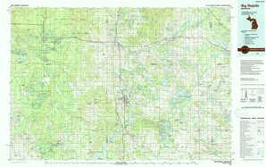 Big Rapids 1:250,000 scale USGS topographic map 43085e1