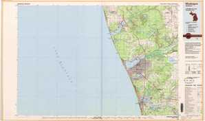 Muskegon topographical map