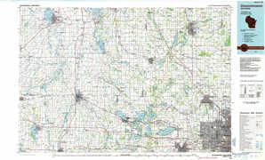 Oconomowoc topographical map