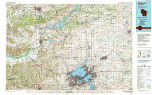 Madison topographical map