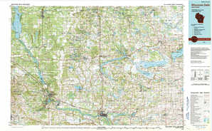 Wisconsin Dells topographical map