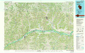 Richland Center topographical map