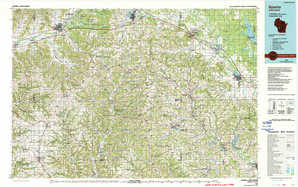 Sparta topographical map