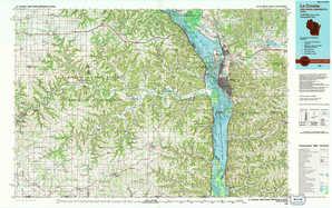 La Crosse topographical map