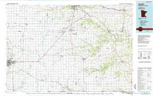 Austin topographical map